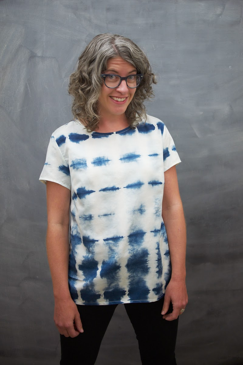 a76588ec3df It shows off her shibori dyed Kona great and we love the use of dark indigo  thread and contrast stitching.