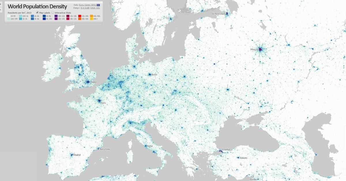 World Population Density Vivid Maps - Sweden map population density