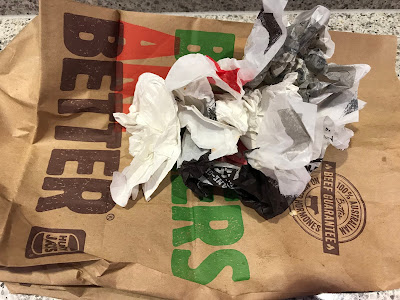 Melbourne Airport, Hungry Jacks, paper bag