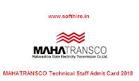 MAHATRANSCO Technical Staff Admit Card