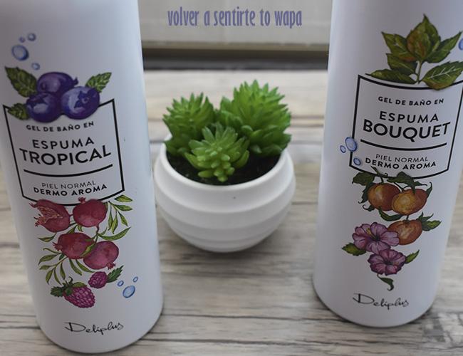 Espumas de Ducha de Mercadona - Gamas Tropical y Bouquet