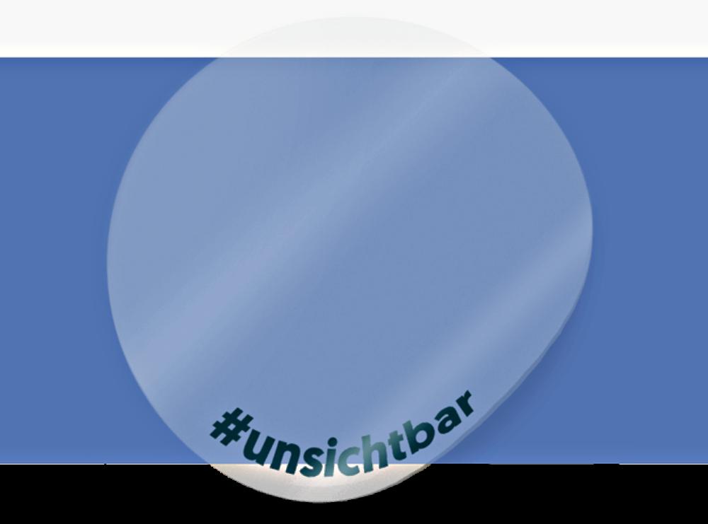 #unsichtbar Transparente Aufkleber - machen das Unsichtbare sichtbar