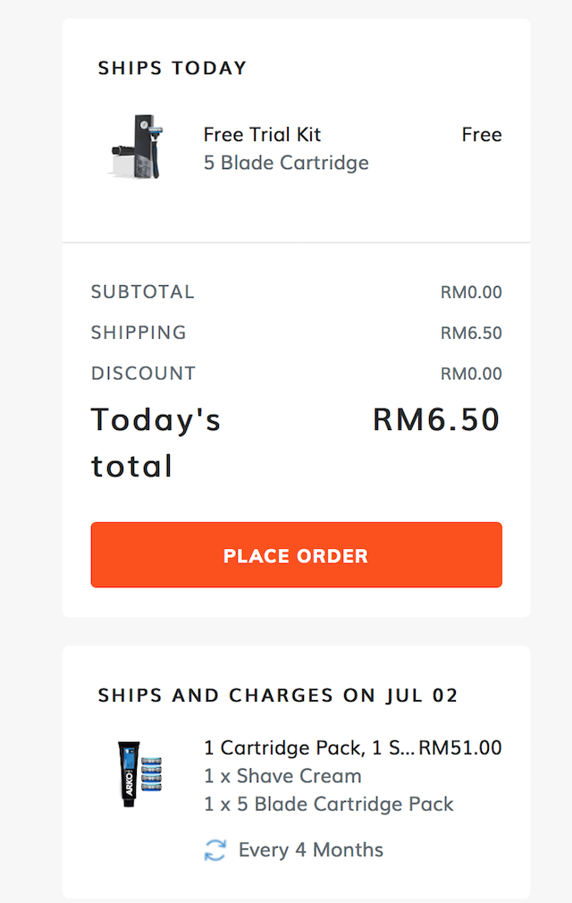 Pay only RM6.50 for the shipping cost of your FREE Starter Pack
