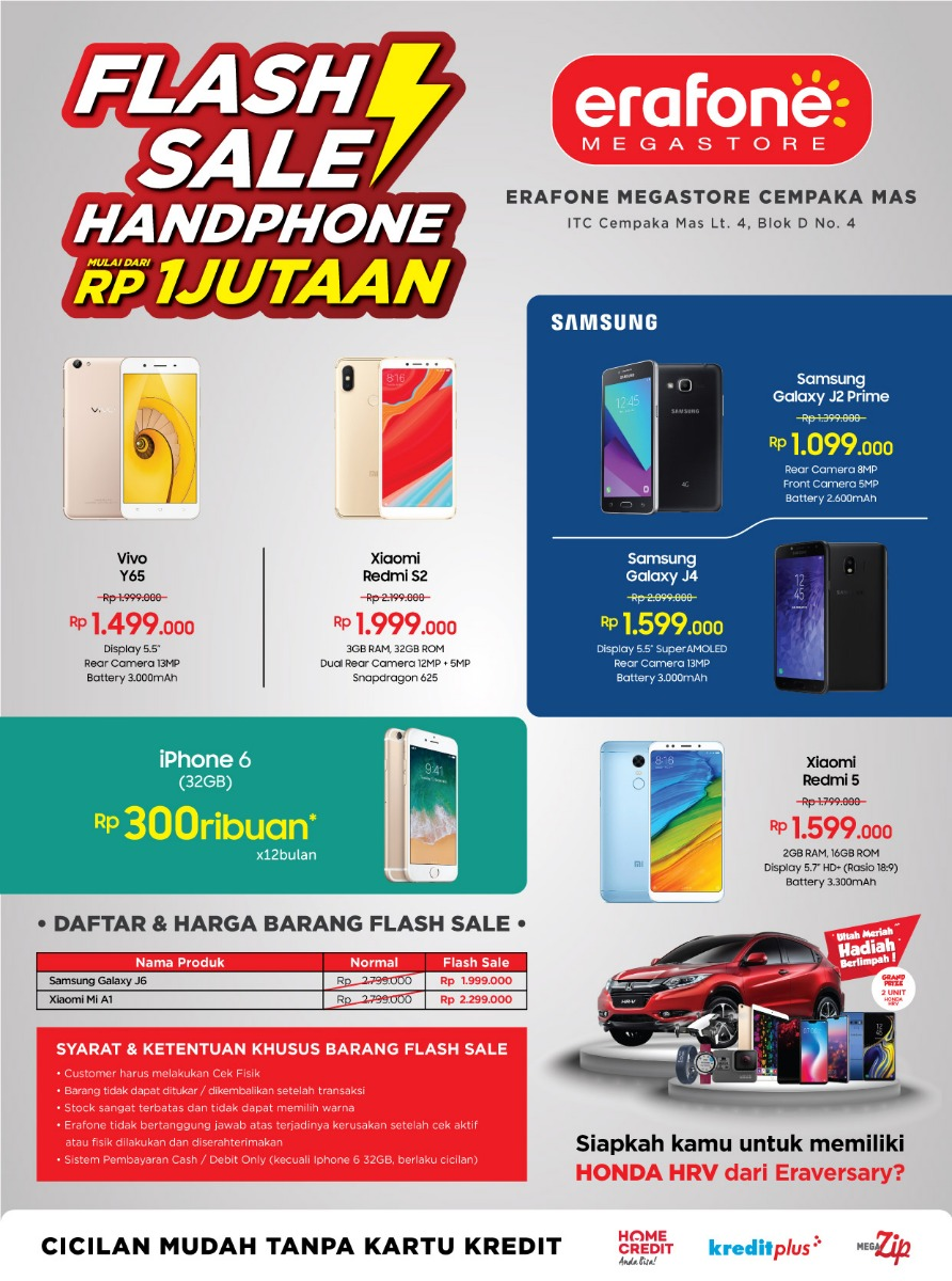 Erafone - Promo Flash Sale Mulai 1 Jutaan di Erafone Tertentu
