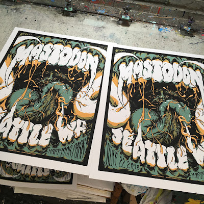 Mastdon posters fresh off the press