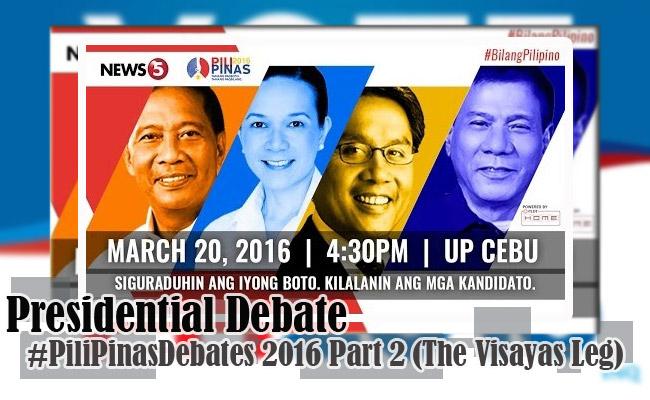 Presidential Debate #PiliPinasDebates 2016 Part 2 (The Visayas Leg)