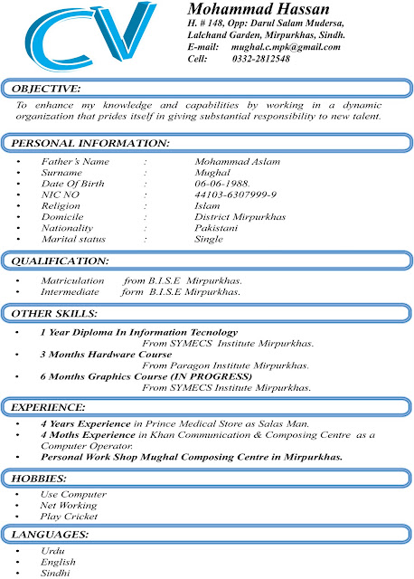 Curriculum Vitae Format Word File resume template resume – Free Download Latest C.v Format in Ms Word