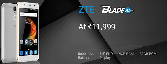 ZTE Blade A2 Plus | 4GB RAM + 32GB ROM | 5000 mAh Battery