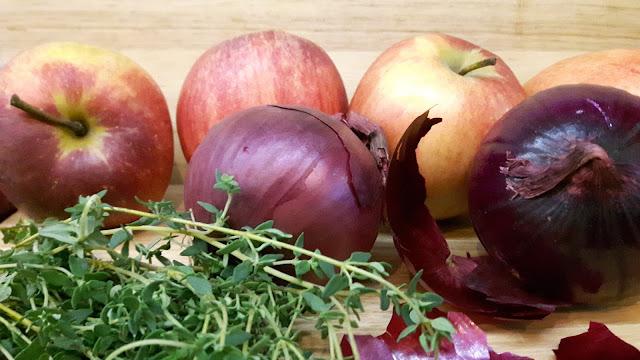Rezept für Zwiebelmarmelade mit Apfel