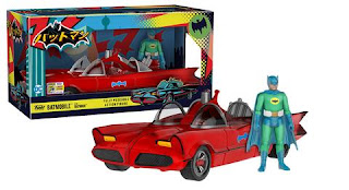 Action Figures: Red Batmobile with Green Batman (1500 LE).