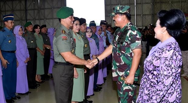 52 Perwira Tinggi TNI Naik Pangkat