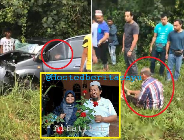 SAYU !! Sayang tunggu Abang .. Suami meninggal lepas 2 jam isteri meninggal kemalangan (6 Gambar)