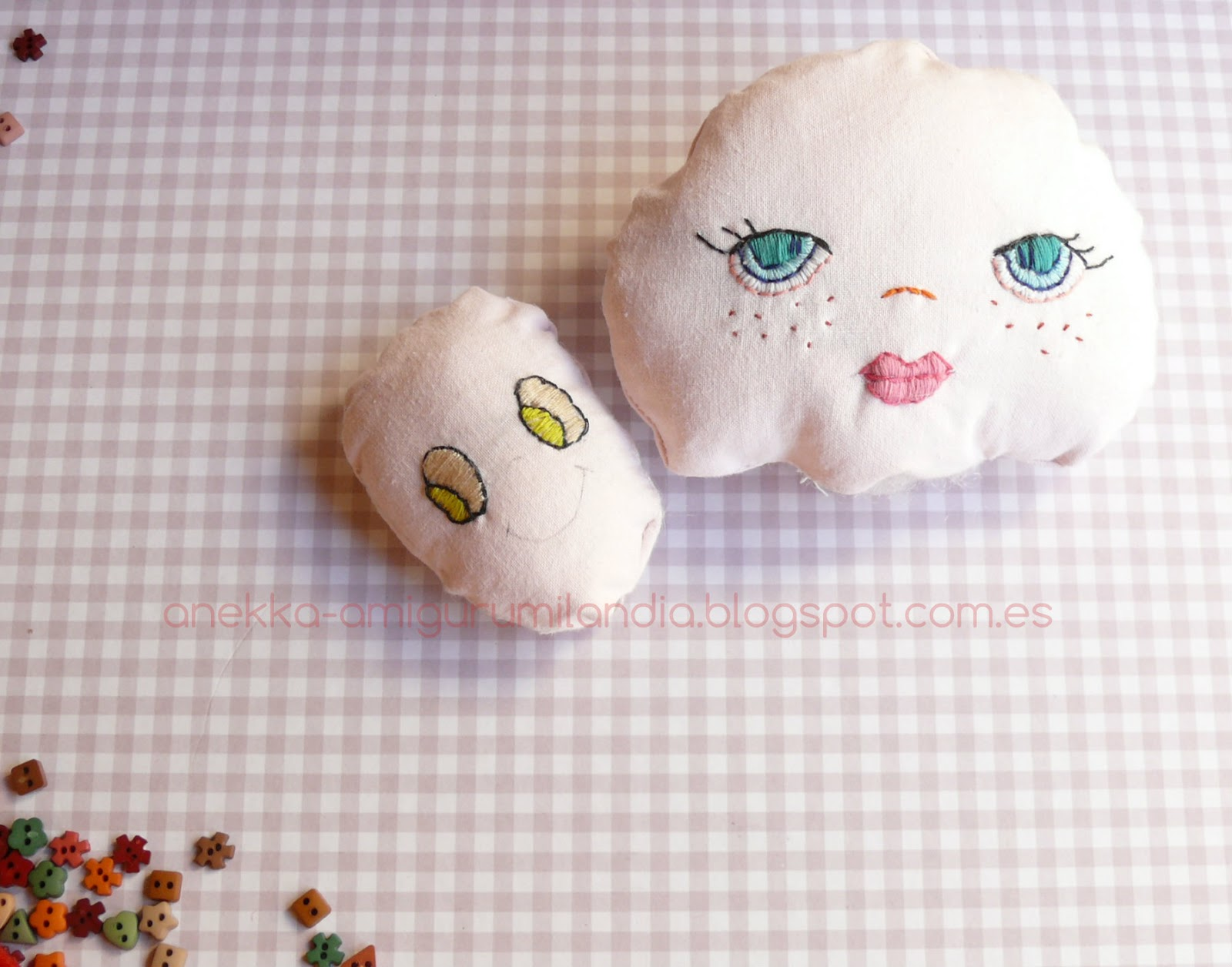 embroidered faces for dolls