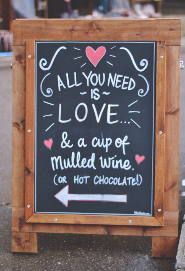 Cute blackboard sign