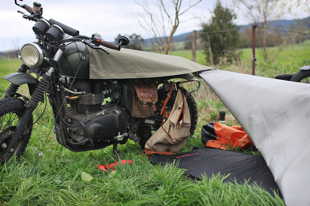 exposed-motorcycle-bivouac-4 & Gear Review - Exposed Motorcycle Bivouac | Return of the Cafe Racers