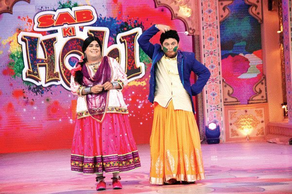 Ali Asgar and Kiku Sharda in Sab ki holi.