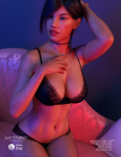 Angels Secrets Lingerie and Poses for Genesis 3 and 8 Female