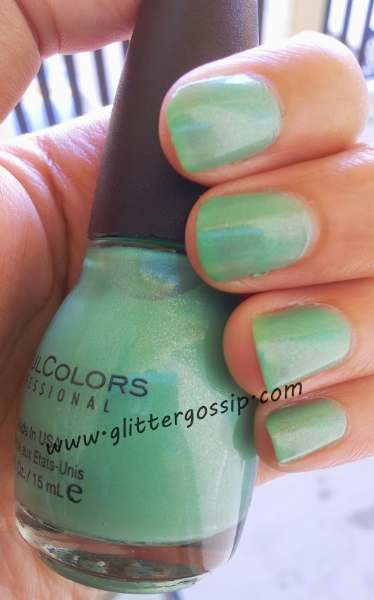 MANICURE MONDAY--MINT APPLE BY SINFUL COLORS-NOTD