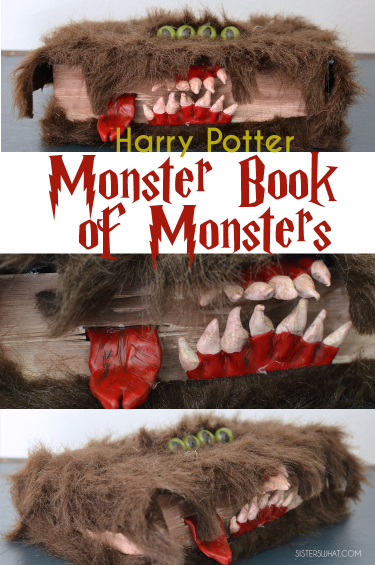 DIY halloween craft Harry Potter Monster Book of Monsters!!