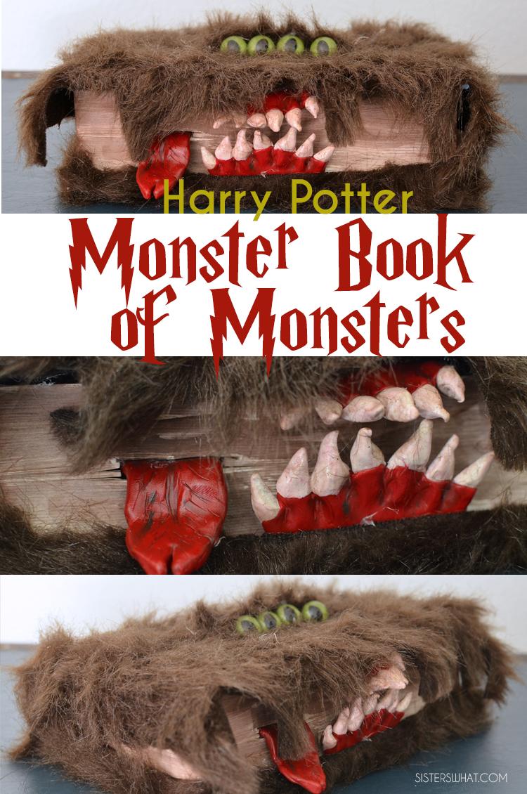 DIY Halloween spell book Monster Book of Monsters!!