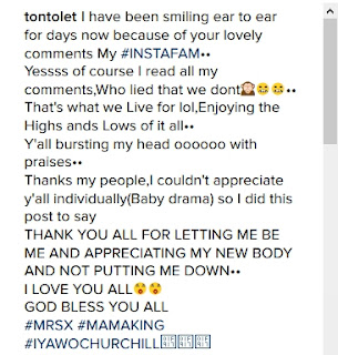 31-year-old Nigerian actress and mother of a bouncing baby boy, Tonto Dikeh-Churchill, has acknowledged the errors of her past and how she has hurt God so much Popular Nollywood actress,