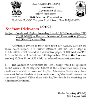 ssc chsl descriptive exam date