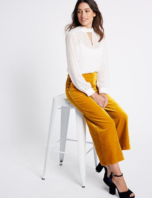 mustard velvet trousers