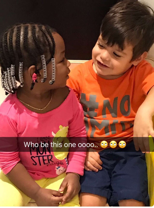 Davido shares photos of his daughter playing with Oyibo classmate at school