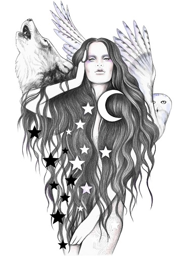 """Moon Witch"" by Andrea Hrnjak 