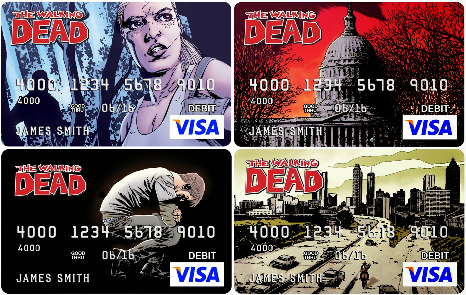 The Walking Dead Themed VISA Debit Cards from Cards.com
