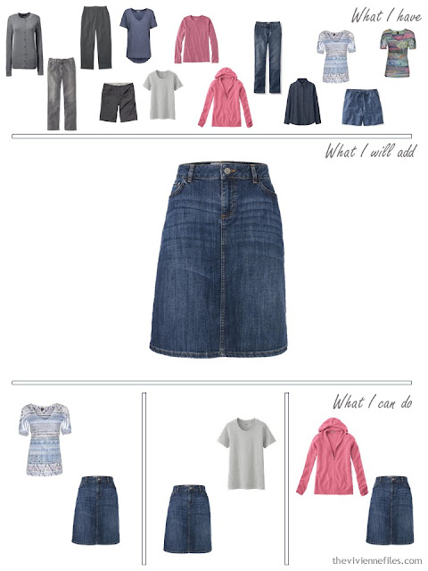 how to add a denim skirt to your wardrobe
