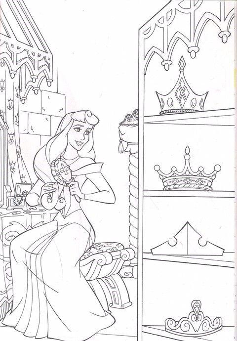Tranh tô màu nàng công chúa ngủ trong rừng 12