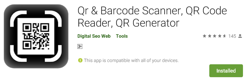 Free Android app to scan, read and generate QR codes and