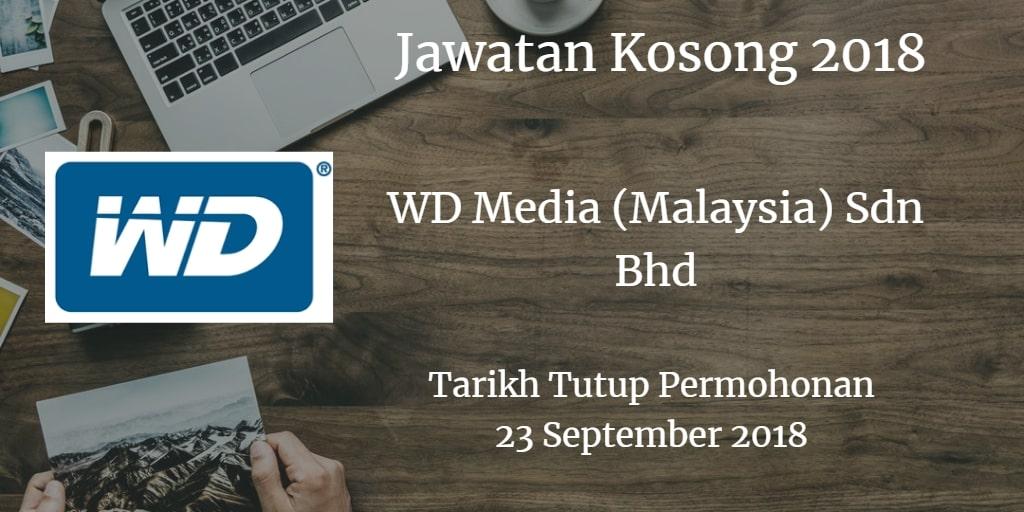 Jawatan Kosong WD Media (Malaysia) Sdn Bhd 23 September 2018