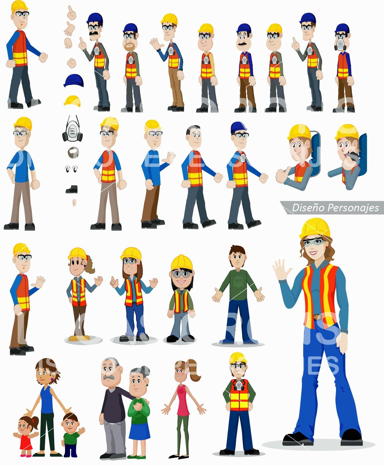 Worker workgirl personajes diseño animación illustrator vector vectorial ilustración