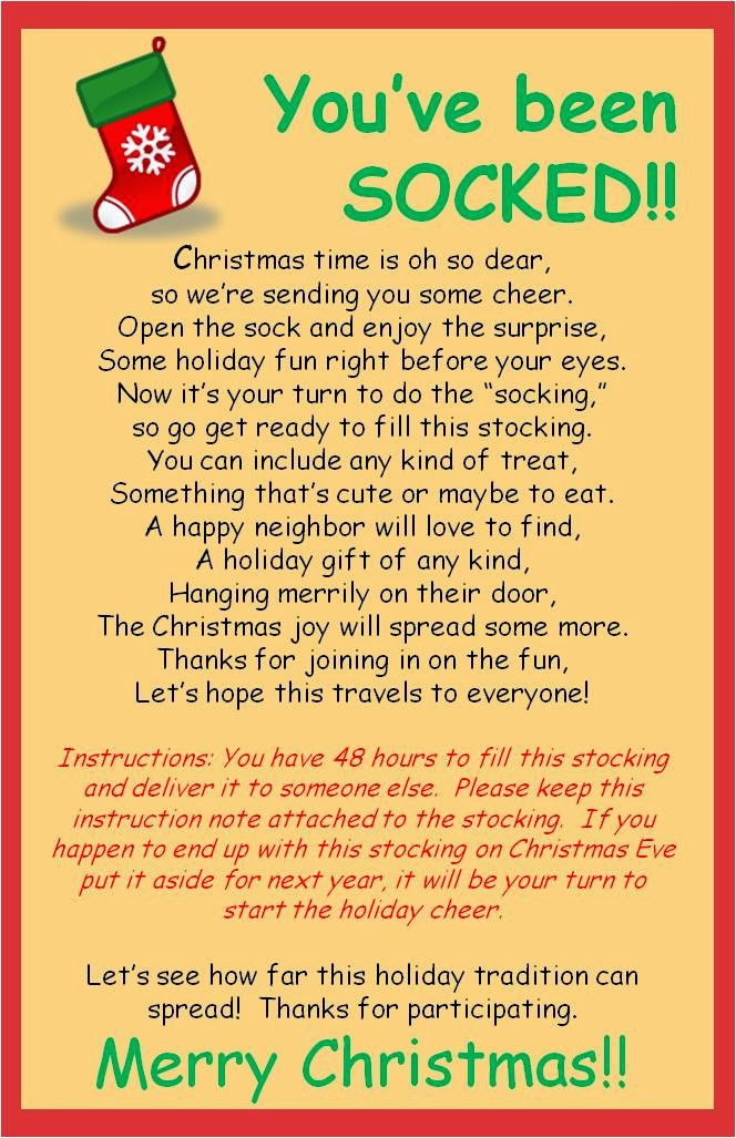 Christmas Gift Exchange Poem.Strong Armor Christmas Socking