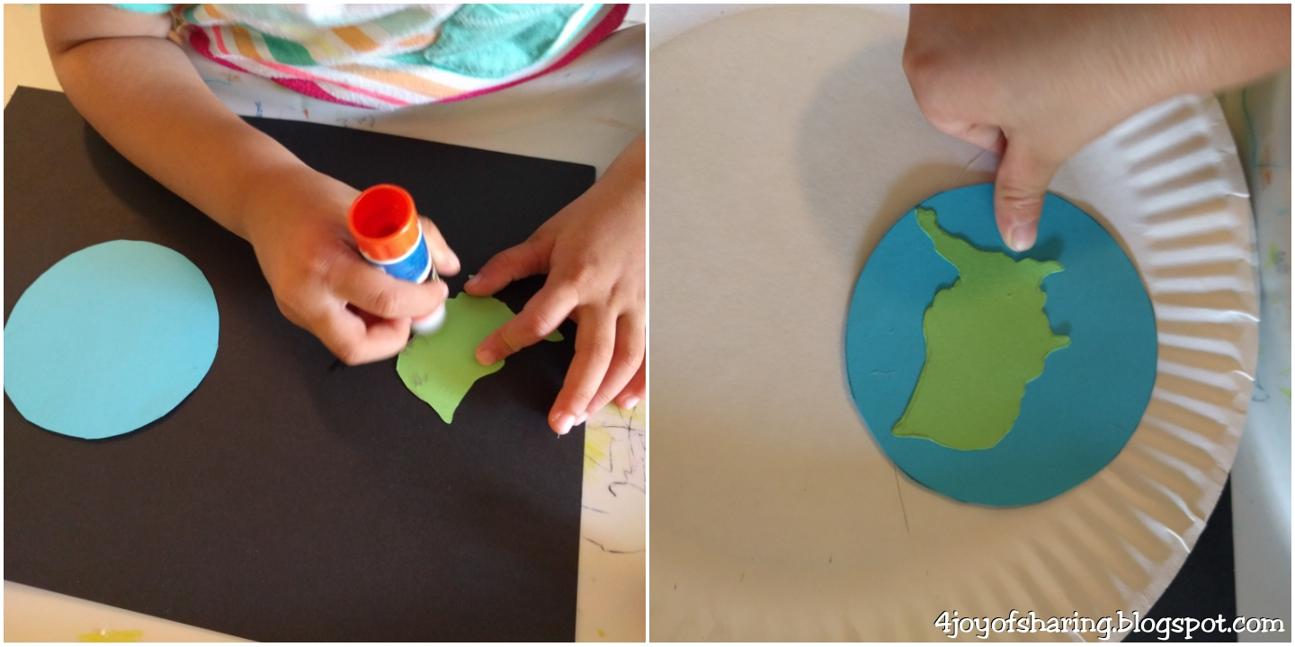 The Joy Of Sharing August - Us map paper plates