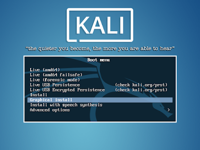 Kali Linux Graphical Install
