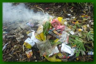 sampah,basah,bau