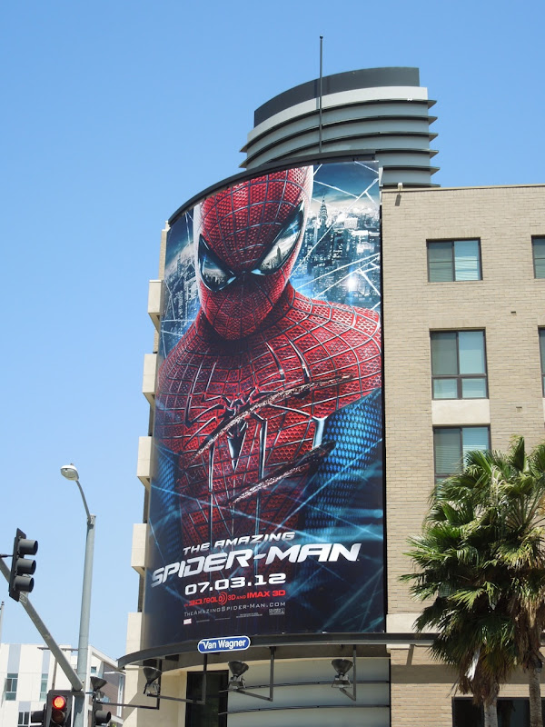 Amazing Spiderman giant billboard