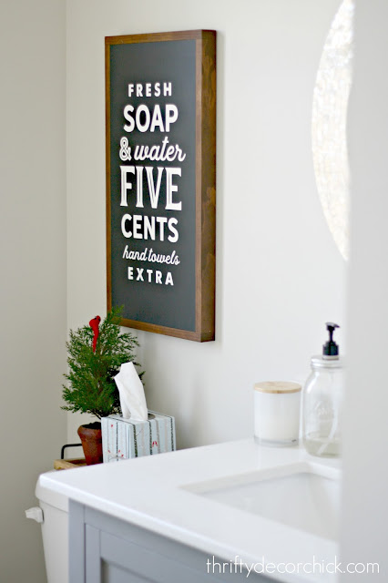 fresh soap sign in black
