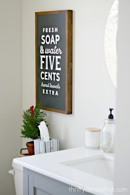 fresh soap sign in black