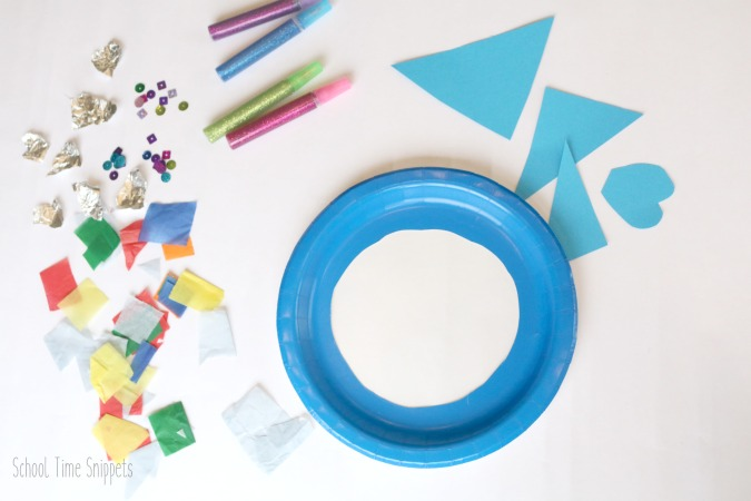 paper plate fish sun catcher craft preschoolers