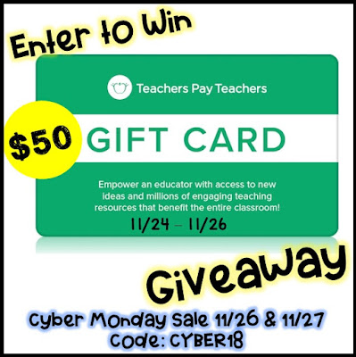 Teacherspayteachers gift card giveaway from Paula's Primary Classroom