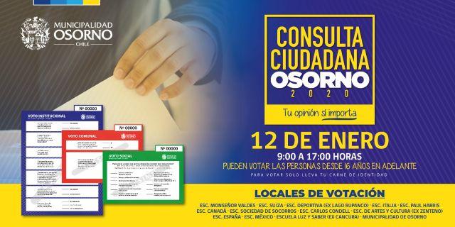 El despliegue humano en la Consulta ciudadana en Osorno