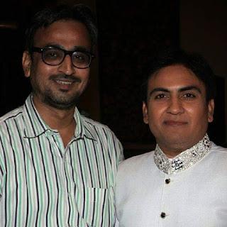 Camaal Mustafa Sikander with Bollywood Actor Dilip Joshi aka Jethalal of Taarak Mehta Ka Ooltah Chashma
