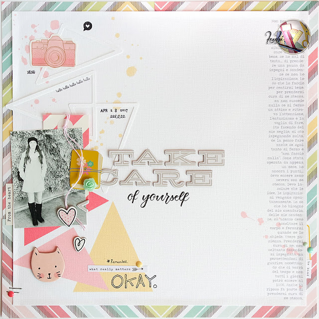 "scrapbook layout ""take care"" by kushi 