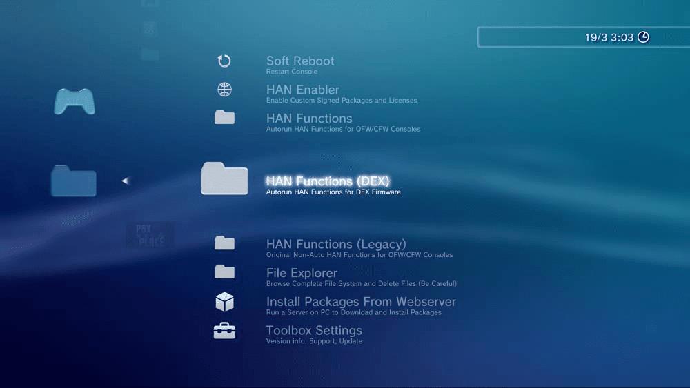 PS3 HAN Toolbox (v0 3) - A very functional XMB MOD for PS3Xploit HAN