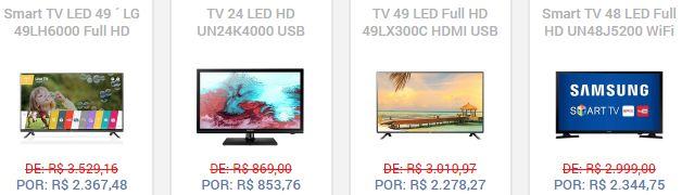 Comprar TV LED SMART TV em Promoção Diversas Marcas
