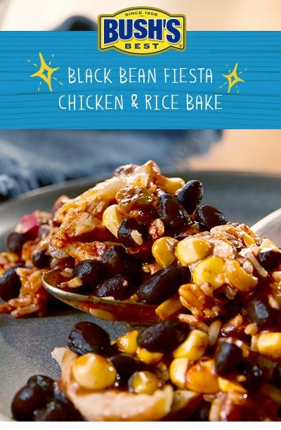Bush's Black Bean Fiesta Chicken And Rice Bake